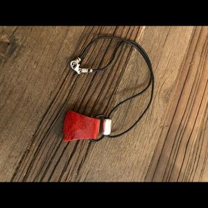Silpada Red Sponge Coral Necklace